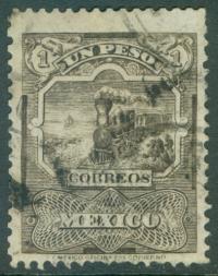 MEXICO : 1897. Scott #254a Trains. Wmk sideways. VF